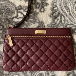 Authentic Michael Kors Quilted Wristlet Clutch